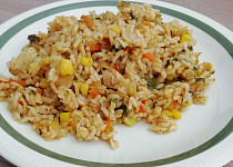 Kuřecí rizoto s asijskou zeleninou