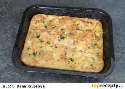 Zapečené brambory ve šlehačce se sýrem