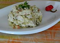 Salát z pýchavky na způsob rybího