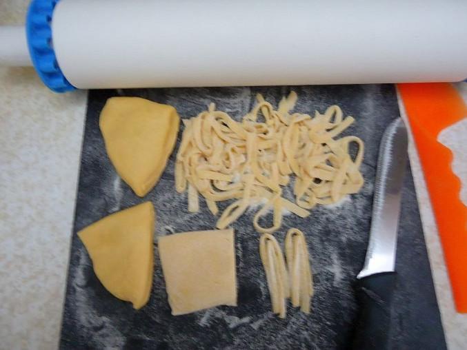 Krevety na česnekovém másle s těstovinami linguine