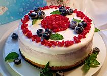 Citronovo-borůvkový dortík