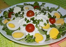 Vajíčkový salát s cottage a polníčkem