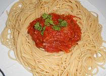 Bezvaječné špagety s cuketovou směsí  (Dělená strava podle LK - Kytičky + zelenina)