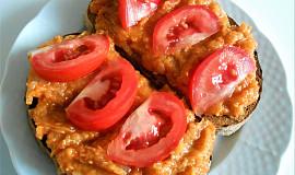 Cuketový tatarák  (Dělená strava podle LK - kytičky+zelenina i zvířata)