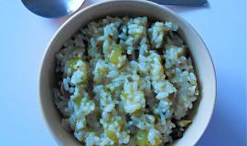 Cuketové rizoto se žampiony - (Dělená strava podle LK - Kytičky+zelenina)