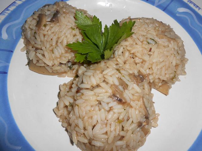 Houbové rizoto do dělené stravy