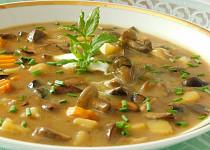 Houbová polévka se smetanou