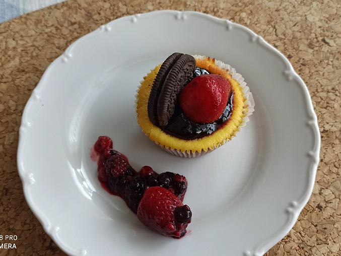 Borůvkové minicheesecaky