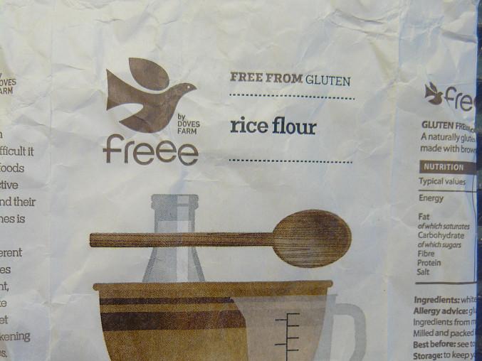 použitá rýžová bezlepková mouka