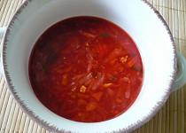 Rychlá podzimní zeleninová polévka s kuřecím masem