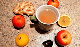 Pečený jablečno-citrónovo-zázvorový čaj
