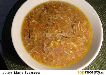Sladkokyselá čínská kuřecí polévka