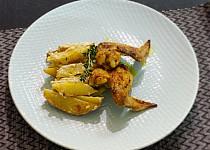 Křidélka s nivovými brambory