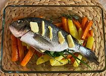 Pečená pražma se zeleninou