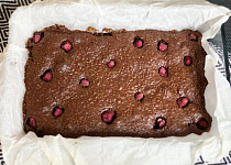 Brownies s malinami