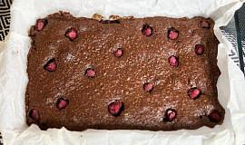 Brownies s malinami