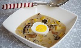 Smetanová s brambory a houbami