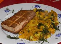 Čočkovo-dýňová kaše s uzeným tofu