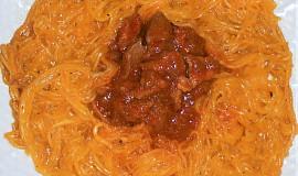 Rychlovka na Ajvaru s dýňovými nudlemi  (Dělená strava podle LK - Zvířata)