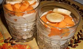 Domácí ovesný jogurt s ovocem  (Dělená strava podle LK - Kytičky + ovoce)