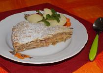 Jablkový koláč z ořechového těsta
