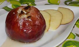 Jablka pečená s cottage a ořechy