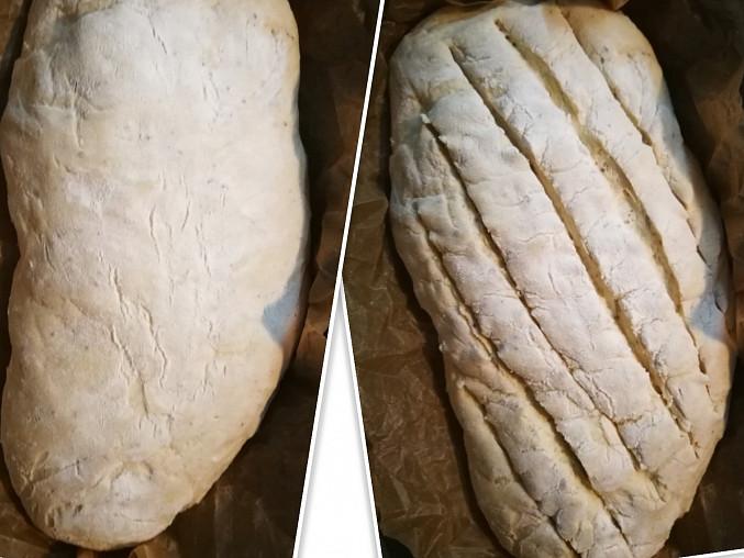 Jednoduchý domácí chleba, Před pečením