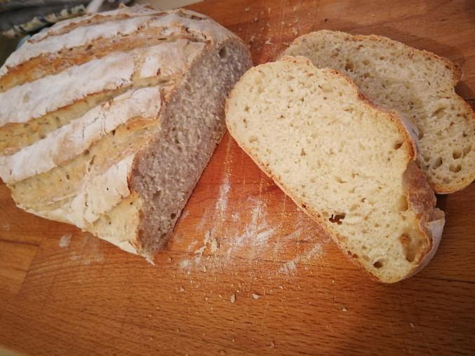 Jednoduchý domácí chleba, Hotovo a je výborný!!!