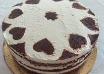Kakaový dort se smetanovou nádivkou