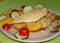 Omeleta s rýžovou náplní