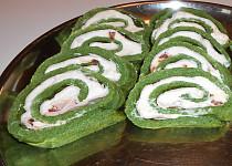Slaná špenátová roláda  (Dělená strava podle LK - Zvířata)