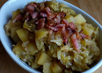 Dušené kapustové brambory na sladkokyselo