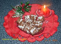 Kakaové čtverečky s ořechovou náplní