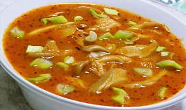 Dršťková polévka hlívová