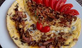 Houbovo - slaninová omeleta