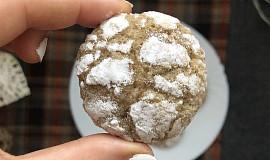 Citronové crinkles s bílým kabátkem
