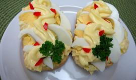 Retro chlebíčky - vajíčkové