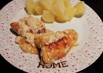 Zapékaná kuřecí prsa se sýry a smetanou