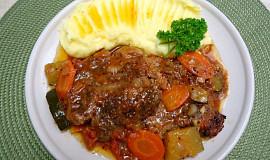 Marinovaná krkovice pečená se zeleninou