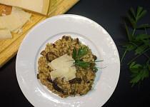 Italské krémové houbové rizoto