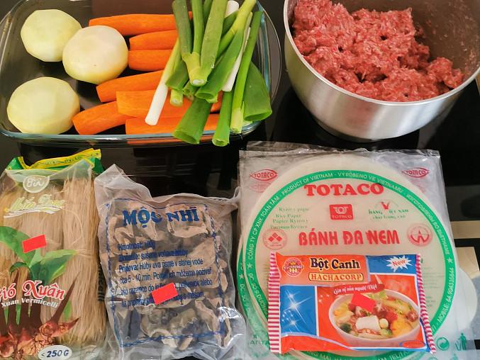 Vietnamské závitky podle Majkla, Ingredience