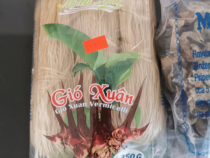 Vietnamské závitky podle Majkla, Skleněné nudle