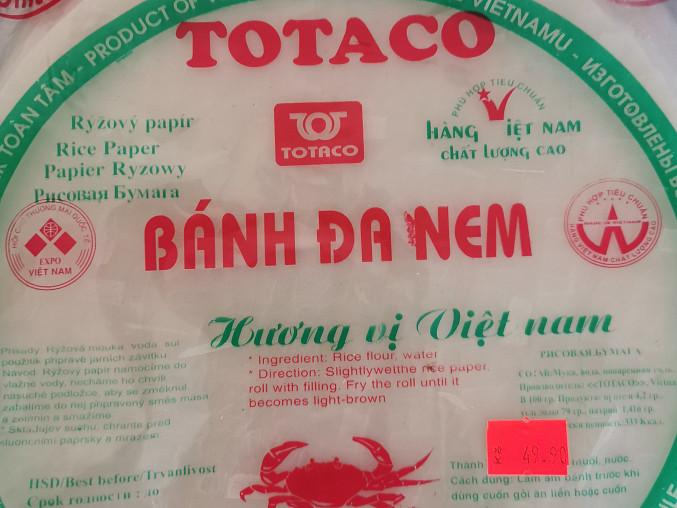 Vietnamské závitky podle Majkla, Rýžový papír