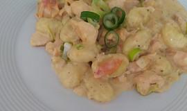 Smetanové gnocchi s lososem