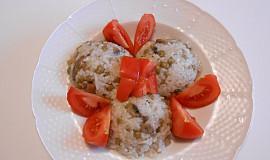 Žampionové (houbové) rizoto (Dělená strava podle LK - Kytičky+zelenina)