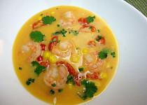 Asijská kukuřičná polévka
