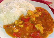 Kuřecí čína s rýží basmati