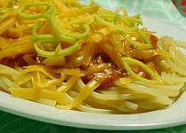 Směs na špagety s drcenými rajčaty a mletým masem