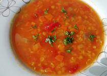 Zimní polévka z červené čočky