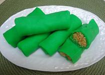 Indonéské zelené palačinky s kokosem